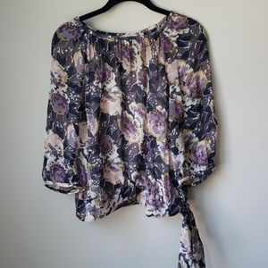 Boden floral print blouse with camisole EUC